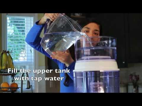 Santevia Alkaline Gravity Water System Countertop Instruction Video