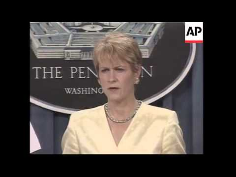 WRAP Bush comments on Iraq, protests, Pentagon briefing