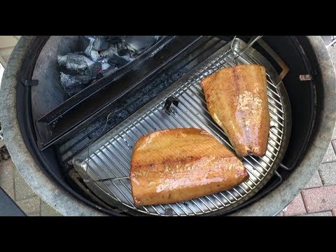 Smoked Salmon On The Slow 'N Sear Kamado