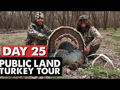 OKLAHOMA GOBBLER DOWN!  YOU WON'T BELIEVE WHAT WE FOUND NEXT! - Public Land Turkey Tour Day 25