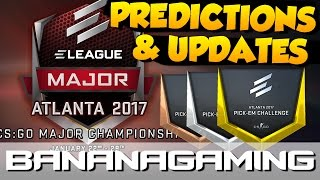 CS:GO - ELEAGUE Atlanta 2017 MAJOR - Predictions & Updates