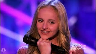 Evie Clair: Sings For Her Dad with Cancer Leaves NO DRY EYE!! America's Got Talent 2017