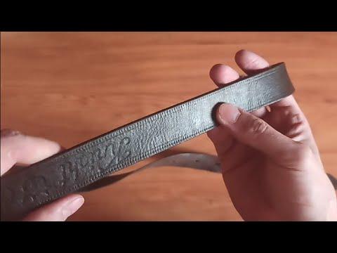 Как покрасить кожаный ремень в домашних условиях