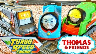 Thomas & Friends Trackmaster Turbo Boost Engines Boosted Percy Diesel vs Nia Yong Boa BWBA