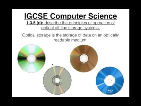 IGCSE Computer Science Tutorial: 1.3.5 (d) – Optical Off-line Storage