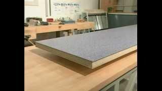 5  Пластевое склеивание 3 мм плит к ДСП основе. Столешницы из искусственного камня своими руками.(, 2013-07-30T09:40:01.000Z)
