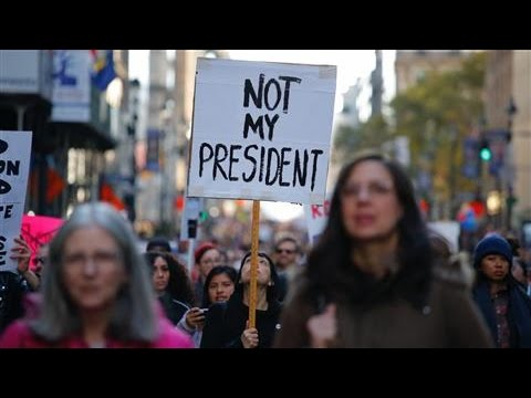 Anti-Trump Protests Continue for Fourth Day