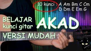 Video BELAJAR KUNCI GITAR Akad - Payung teduh Versi mudah download MP3, 3GP, MP4, WEBM, AVI, FLV Juli 2018