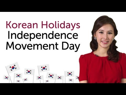 Learn Korean Holidays - Independence Movement Day