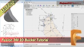 Fusion 360 Tutorial 2D Bucket Modeling Practice Exercise 9