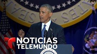 """""""Michelle…ha sido mi mejor amiga"""", dice Obama de su esposa   Noticias   Noticias Telemundo"""