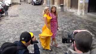 Hofit GOLAN & Victoria BONYA Paris Fashion Week 10 july 2014 Zuhair Murad