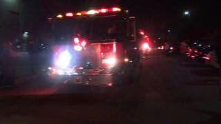 Fire Truck Escort Sunday 10-26-2014 For The Norwin Senior High School Marching Band