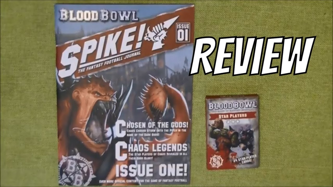 Blood Bowl Spike Issue 1 Star Player Cards Youtube