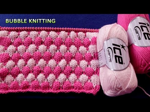 Bubble Knitting 2 Color Pattern Youtube