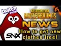HOW TO GET NEW CLOTHES FOR FREE! (Twitch Prime) - PUBG NEWS
