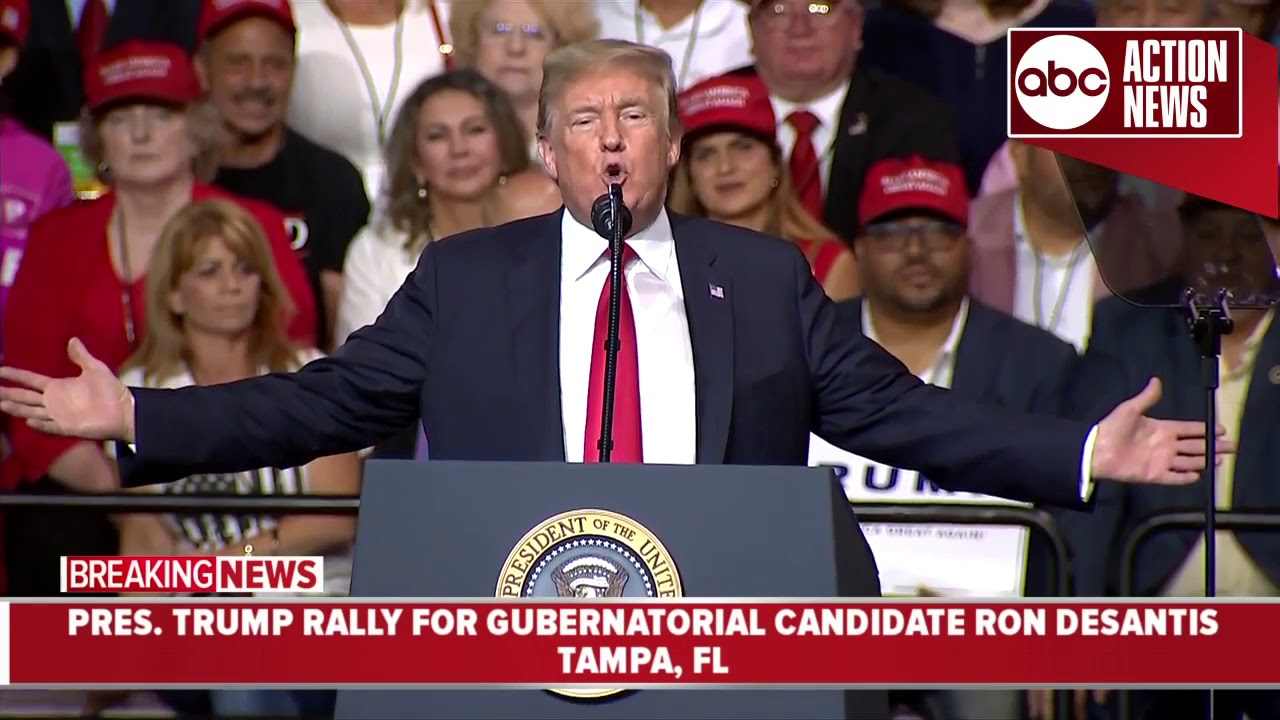 President Trump rally in Tampa part 1