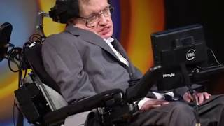 Stephen Hawking tribute, brilliant British scientist in wheelchair with theory on black holes