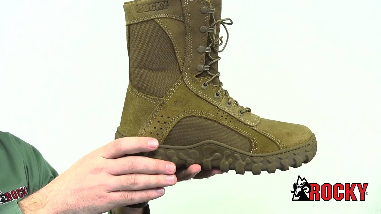 Rocky S2V Tactical Military Boot Style# - RKC050 - YouTube
