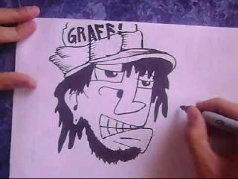 Como dibujar un caracter graffiti paso por paso 2013  YouTube