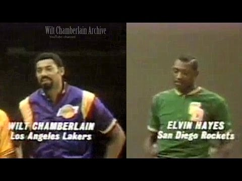 Wilt Chamberlain, Elvin Hayes 15pts/17reb/2a/12blks (1969 NBA ASG Full Highlights)