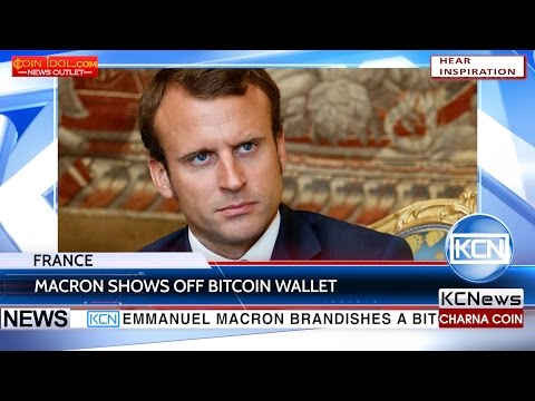 KCN Newly elected President of France shows off his bitcoin hardware wallet