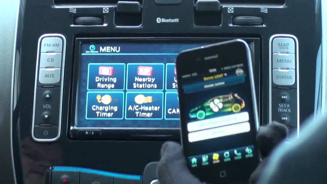 Iphone App For Nissan Leaf Youtube