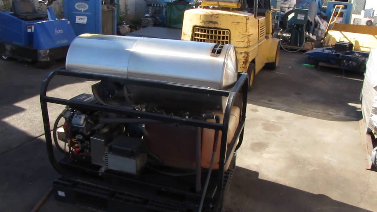 hydro tek hot pressure washer steam cleaner 16hp vanguard engine landa hotsy youtube [ 1280 x 720 Pixel ]