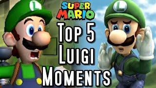 Super Mario TOP 5 LUIGI MOMENTS (3DS, Wii, GC)