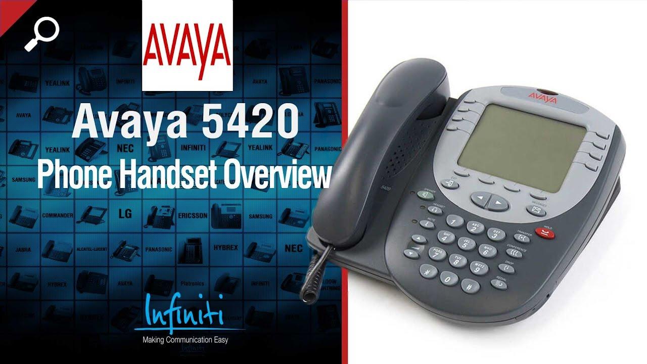 avaya 5420 phone handset overview infiniti telecommunications rh youtube com Avaya 5420 User Guide Avaya IP Phones