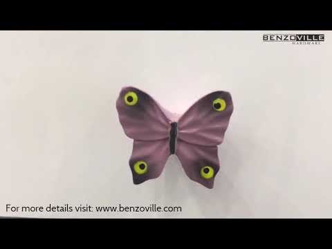 Benzoville Butterfly Cabinet Knob 41mm Multicolour From Siro
