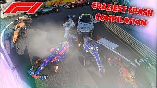 F1 2017 Game: CRAZIEST CRASH COMPILATION