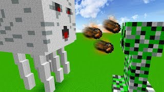 GHAST GIGANTE VS. CREEPER GIGANTE (MINECRAFT GIANT)
