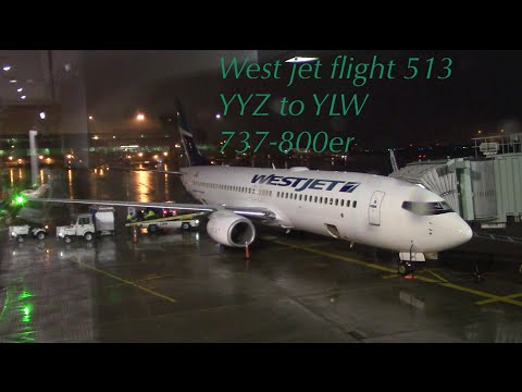 TRIP REPORT!! West Jet Flight 513 YYZ toronto To YLWkelowna 737-800er Econamy