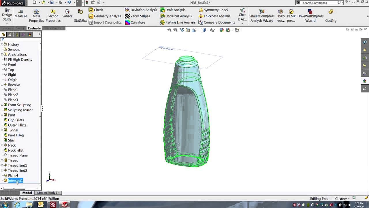 Solidworks new in 2014 finding the volume of a cavity with the solidworks new in 2014 finding the volume of a cavity with the intersect tool youtube ccuart Image collections