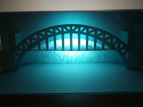 3d Port bridge | Pop up Port bridge card | paper art | kirigami | 3d港口橋
