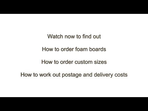 How to Order Foam Boards Sheets or Cut to Size