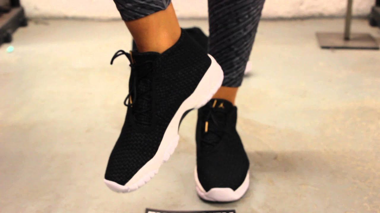 e70bb73c21506f ... germany bg womans air jordan future black white on feet video at exclucity  youtube 47038 7f6ed