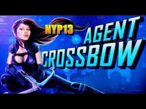 WMS   Agent Crossbow MAX BET Slot Bonus NICE WIN