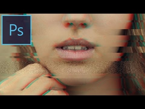 Photoshop CC Tutorial: How to create a Distorted Glitch Art Photo Effect