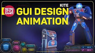 """GUI Design and Animation for """"Kite"""" CG Ad"""