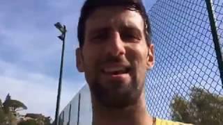 Novak Djokovic's Wife Reproving him | Baš ti hvala ljubavi