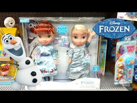 Disney Frozen Olaf's Frozen Adventure Singing Traditions Elsa & Anna Sisters Walmart Dolls Toys