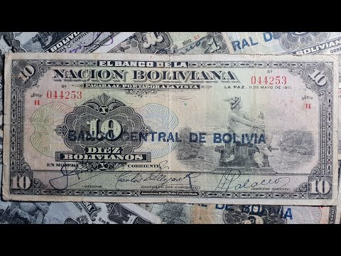 BOLIVIA 1911 1, 5 and 10 bolivianos.