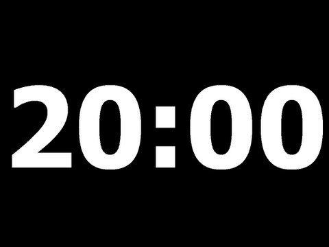 20 Minute Countdown Timer
