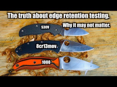 I've Discovered Something Strange. This Video WILL Be Controversial | Knife Edge Retention Testing