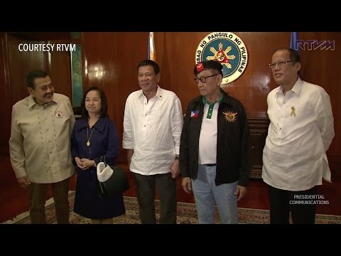 Duterte meets with former presidents at National Security Council meeting