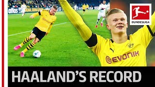 Erling Haaland's Record   5 Goals In 56 Minutes For Dortmund
