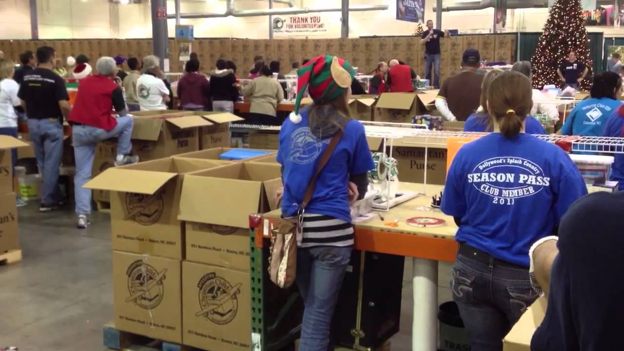 Operation Christmas Child Processing Center - YouTube