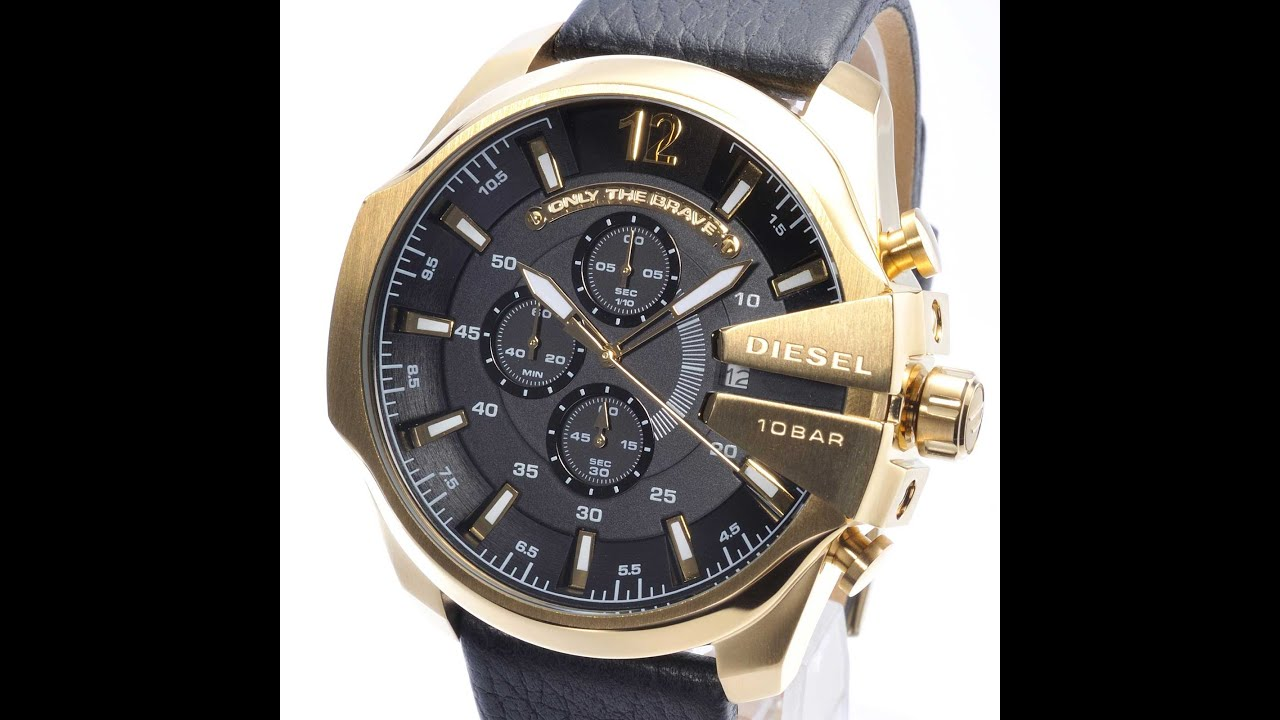 chronograph chief tic mens watches gun ip watch image at metal available mega men diesel